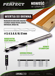Wiertła do drewna Stalco Perfect
