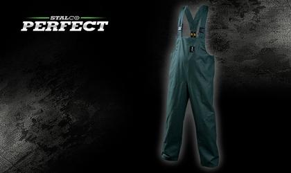 Spodnie przeciwdeszczowe na szelkach - zielone